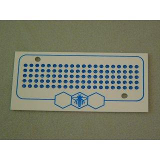 Leucht Opalith Karte mit Nummern 1-99 blau