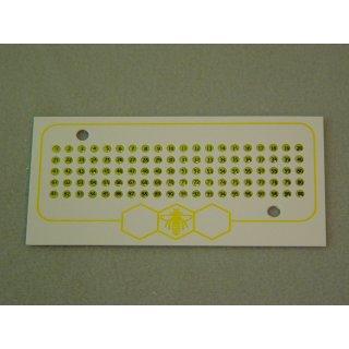 Leucht Opalith Karte mit Nummern 1-99 gelb