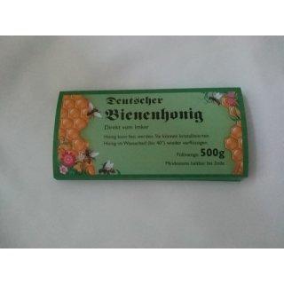 Etikett für 500g, grün, nassklebend (100 Stück)