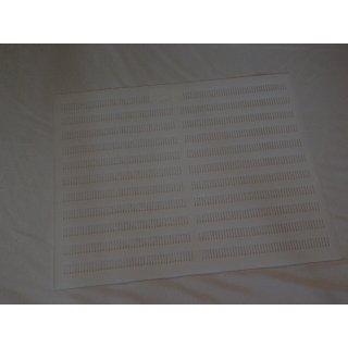 Propolisgitter 50x50 cm, keilförmige Schlitze -weiß-
