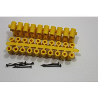 Abstandsröllchen gelb 100 Stück