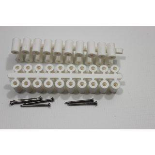 Abstandröllchen Großpackung (1000 Stück) weiß mit Nägeln