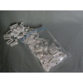 Zander Kreuzklemmen aus Plastik (100 Stück) weiß
