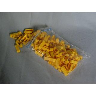 Zander Kreuzklemmen aus Plastik (100 Stück) gelb