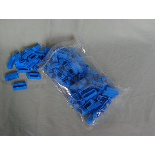 Zander Kreuzklemmen aus Plastik (100 Stück) blau