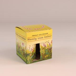 Geschenk-Karton Blumenwiese 1 x 250g Glas