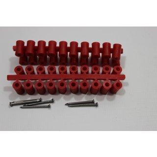 Abstandsröllchen rot 100 Stück