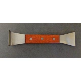 Stockmeißel mit Holzgriffschalen Edelstahl 20cm
